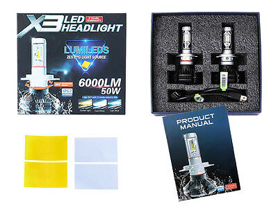 Set x3 LED H 7 6000K 5 s 6000LM Glühbirne HEAD LIGHT 12V-24V LUMINOSISSI