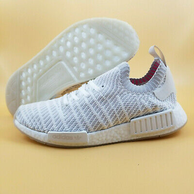 755e9e3ed2c74 Adidas NMD R1 STLT Primeknit Boost SIZE 9 Men Running Shoes Cloud White  170