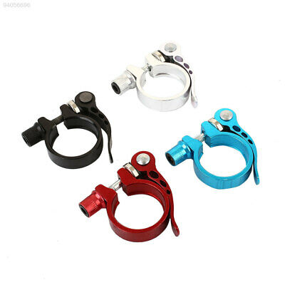 4C04 34.9MM Mountain Bike Cycling Seat Post Clamp Quick Release Metal New