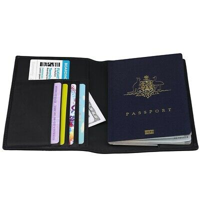 Passport Leather Holder ID Card Travel Wallet Organizer Protector Cover Case