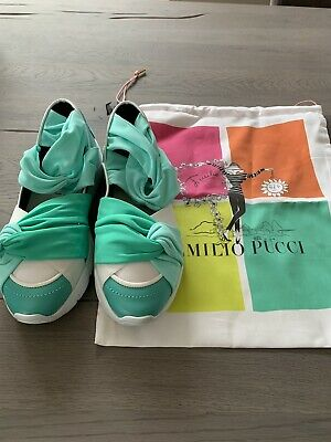 EMILIO PUCCI CITY Up Ruffle Trainers Slip On Sneakers Shoes