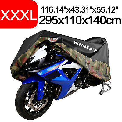 XXXL Camouflage Motorcycle Cover 190T Waterproof For Harley Touring Road Cruiser