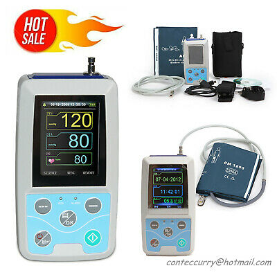 FDA Ambulatory Blood Pressure Monitor NIBP Holter ABPM50 Software 24 Hour Record