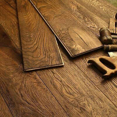 19CM Wide Medium Oak Oiled Distressed Antique Boards Engineered Flooring EC33