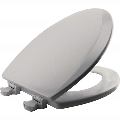 Marvelous Bemis 1500Ec062 Molded Wood Elongated Toilet Seat With Easy Pabps2019 Chair Design Images Pabps2019Com
