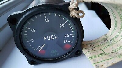 Rare Raf Vampire Jet T.11 Xe894 Aircraft Fuel Gauge Part 6A/4333 With Raf Form