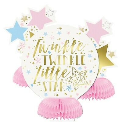 TWINKLE UNISEX - Honeycomb Decorations[4] Baby Shower Party Girl Boy Stars 72421