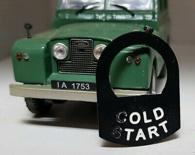 Land Rover Series 1 2 2a Old Tart Comedy Cold Start Metal Tab Tag 560411 Choke