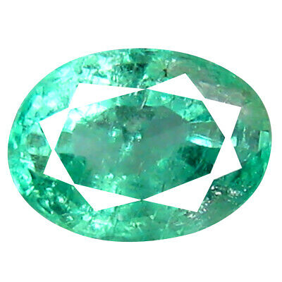 0.63 ct Great looking Oval Cut (6 x 4 mm) Colombian Emerald Natural Gemstone