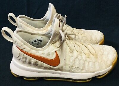 098a375ed889 Nike Zoom KD 9 Texas Longhorns 35 Kevin Durant burnt orange flyknit  sneakers 8.5