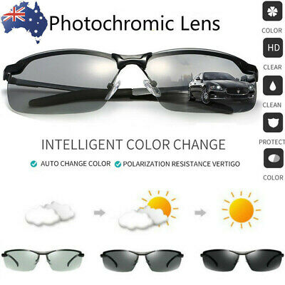 Photochromic Polarized Sunglasses Goggles Glasses Lens Driving Sports Transition