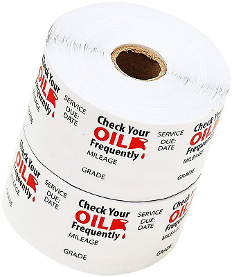 Oil Change Reminder Stickers Clear Decals Static Cling Sticker 1000 Stickers New