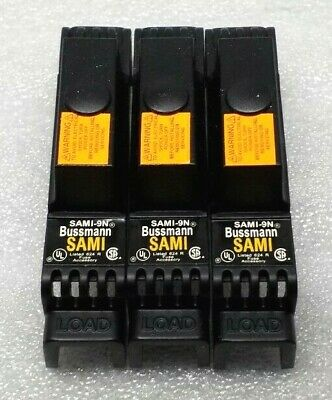 New Box Of 3 Bussmann Sami-9N Fuse Cover Non-Indicating