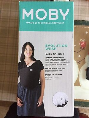 551c326819e NEW In Box Moby Wrap Evolution Teal Baby Carrier Infant Newborn Wearing  Bamboo