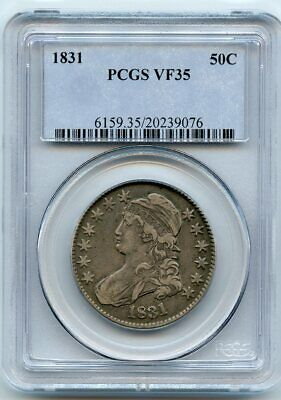1831 50C Capped Bust Half Dollar VF-35 PCGS