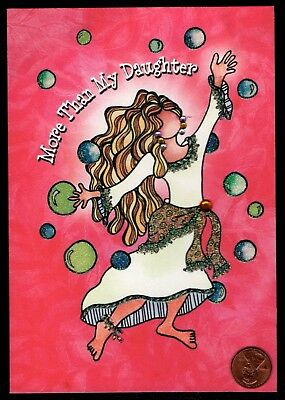 BLUE MOUNTAIN SUZY TORONTO Dancing Daughter GLITTERED JEWEL Greeting Card