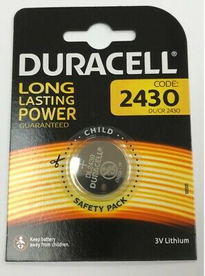 2 x Duracell CR2430 / DL2430 2430 3V Lithium Battery Coin Button Cell Scales