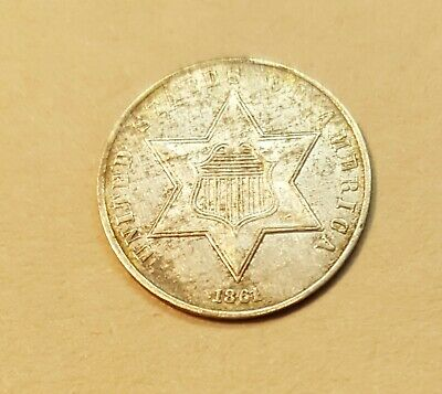 1861 3 Cent Silver Coin