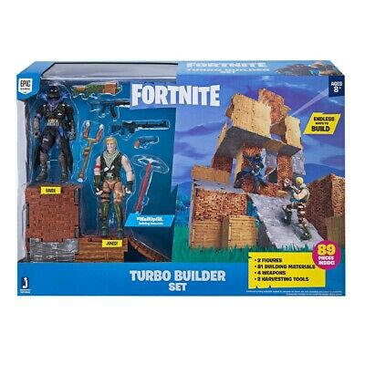 Fortnite Turbo Builder Set 2 Figure Pack Jonesy & Raven - 89 Pieces - NEW