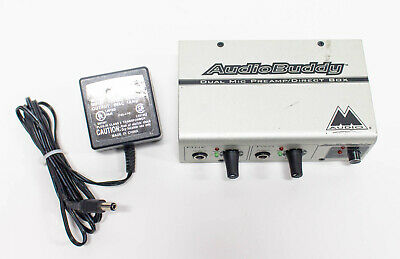 M-Audio Audio Buddy 2-Channel Dual Mic Preamp / Direct Box with Power Supply