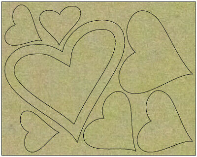 NEW Couture Creations, Hearts Board, 11cm x 14.5cm (8 pieces)