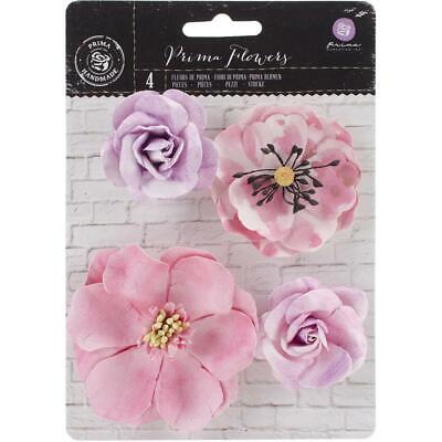 "Prima Marketing Flowers - Watercolor Mulberry Paper Flowers 2"" - 3"", 4/Pkg, A..."