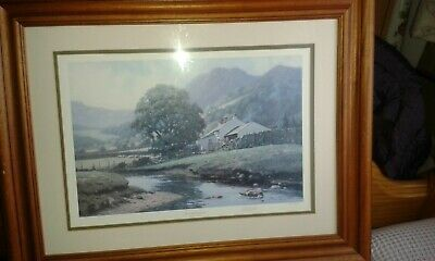 Framed Mounted PETER SYMONDS Beneath The Fells SIGNED NUMBERED LIMITED EDITION
