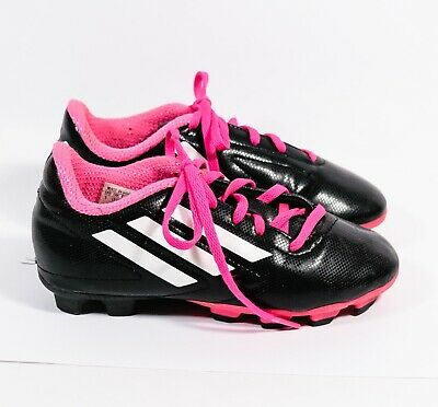 3c10d1951e42 GIRLS YOUTH ADIDAS Conquisto FG Pink Black Soccer Shoes Cleats Sz 1 ...