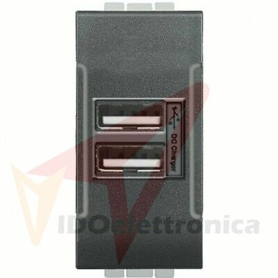 Presa Usb Nero Bticino Living International Compatibile Vidoelettronica®