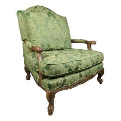 NICE Green Oversized Thomasville Louis XV Style Bergere Upholstered Accent Chair