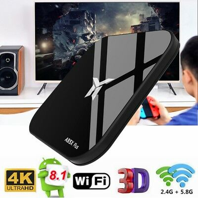 A95X PLUS TV Box Quad Core WiFi BT4.24K Media Player 4GB + 32GB Android 8.1 H.26