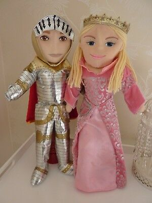 The Puppet Company Princess and Knight large full body hand puppet soft toys