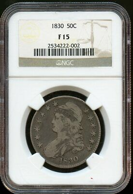 1830 Ngc Capped Bust Lettered Edge Half Dollars F-15
