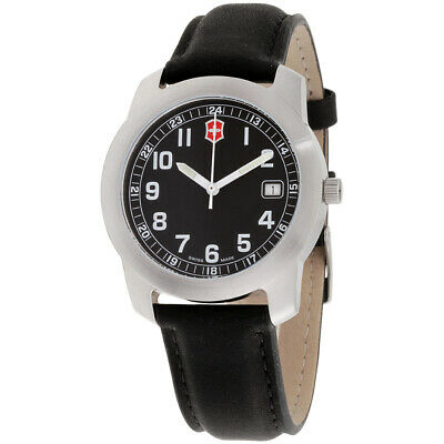 Victorinox Classic Black Dial Leather Strap Men's Watch 26010CB