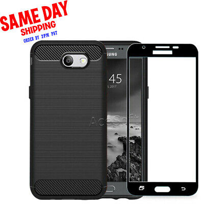sports shoes 64f62 b5c9a SCREEN PROTECTOR CARBON Fiber Case for Samsung Galaxy J3 Eclipse SM ...