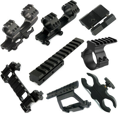 Tactical Scope Mount Adapter Dovetail Weaver Picatinny Rail Mount for Hunting