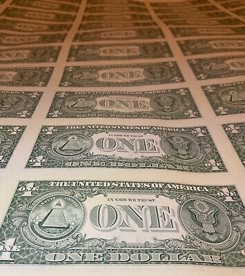 Sheet Of Ones $$ 2017 Roll Of 10 One's Cheapest Online , Real US Money