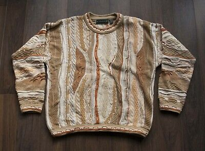 Tundra Sweater Cosby Coogi Style Light Brown Size S *F1230a4
