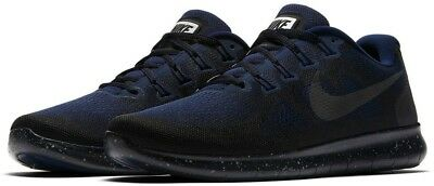48ed442bb9585 Nike Free RN 2017 Shield Men s Running Shoes AA3760 001 Obsidian Blue Size  8.5