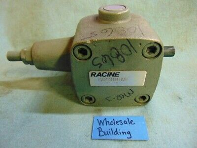 "Racine Vane Pump Pvcpssf09Erm01, 20251431 Cr 8646, In & Out 1/2"", Shaft 3/4"", Cw"