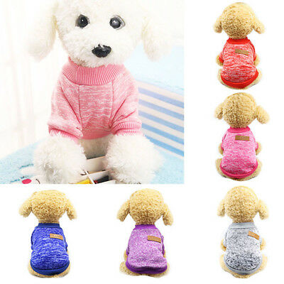 KF_ Puppy Soft Pet Dog Sweater Chihuahua Pullover Clothes Pet Outfit Jumper No