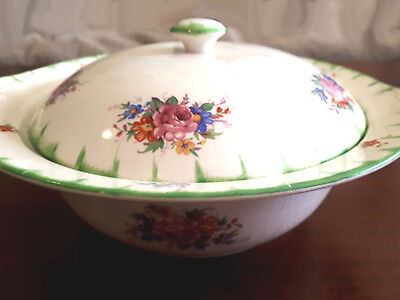 GRENVILLE Pottery Ltd Tunstall - Lidded Soup/Vegetable TUREEN - Dish 1950's VGC