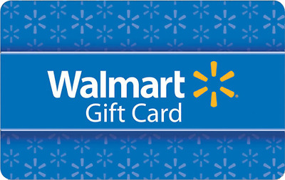 Walmart Physical Gift Card - Standard 1st Class Mail Delivery - Sealed