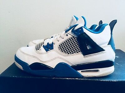 420b7bf8e9a 2016 Youth Nike Air Jordan V 5 Motorsport White Royal Size 4.5Y Used Rare  NDS