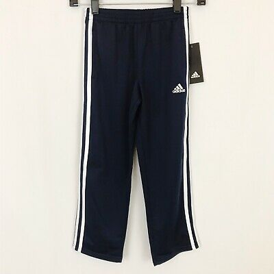 81a9ed020 Adidas Boys Kids Iconic Tricot Pant Athletic Three Stripe Navy White - Sz 7