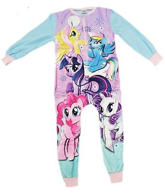 Girls my little pony Kids All in One Girls Fleece  Character  Pyjamas Sleepsuit
