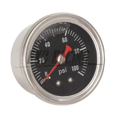 Exoracing Fuel Pressure Gauge Liquid 0-100psi Oil Pressure Gauge Fuel Gauge Blac