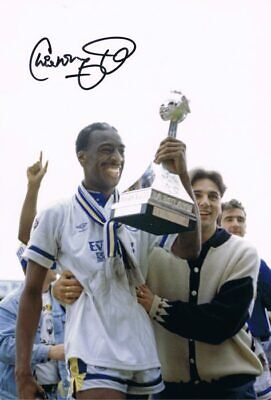 Signed Chris Whyte Leeds United Autograph Photo 1992 1st Division Winner