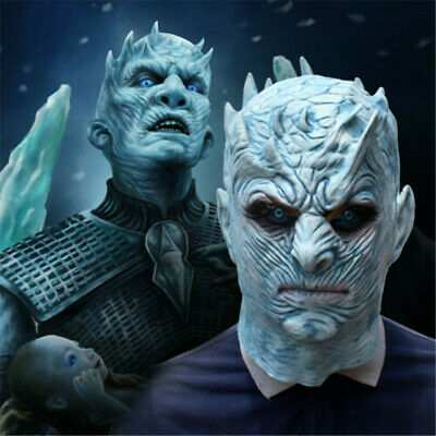 Game of Thrones Night's King Latex Mask White Walker Zombie Party Cosplay Props