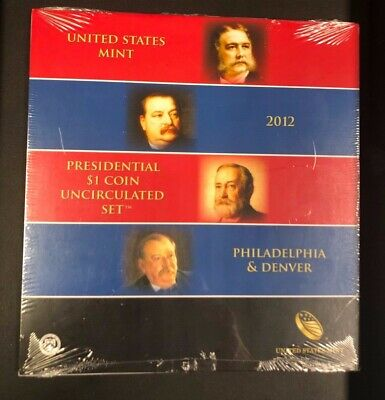 2012 Us Mint Presidential P & D Uncirculated 8-Coin Dollar Set In Ogp